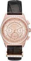 Michael Kors Women's Chronograph Vail Black Leather Strap Watch 38mm MK2616