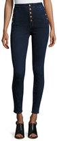 J Brand Jeans Natasha Sky High-Waist Skinny Jeans, Blue