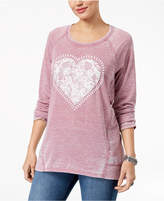 Style&Co. Style & Co Heart Graphic Sweatshirt, Created for Macy's