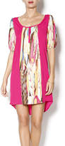Glam Contrast Placket Dress