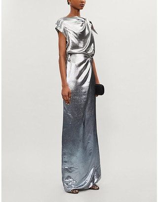 Roland Mouret Silvabella silk-blend metallic gown