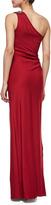Aidan Mattox One-Shoulder Gown, Ruby