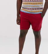 Asos Design ASOS DESIGN Plus slim chino shorts in wine red