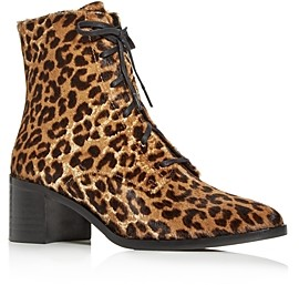 Freda Salvador Women's Ace Cheetah Print Calf Hair Pointed-Toe Booties