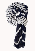Forever 21 Sea Bound Striped Scarf
