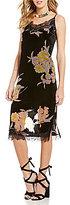 Band of Gypsies Sleeveless Burnout Velvet Floral Midi Dress