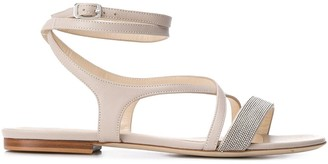 Fabiana Filippi Beaded Multi-Strap Sandals