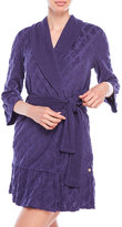 Juicy Couture Ruffle Terry Logo Robe