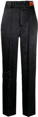 Heron Preston Straight Leg Satin Trousers