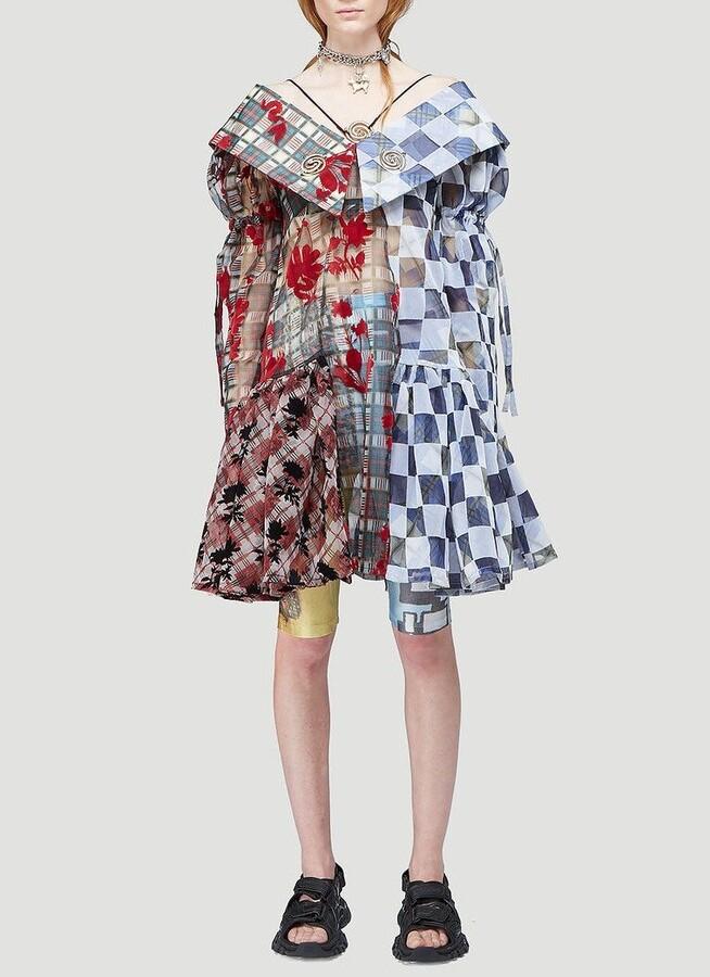 Thumbnail for your product : Chopova Lowena Multi Flock Ruffled Mini Dress