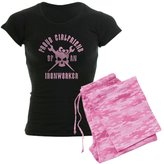 CafePress - Proud Girlfriend Of An Ironworker - PINK Women's D - Womens Novelty Cotton Pajama Set, Comfortable PJ Sleepwear