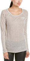Maison Scotch Scotch & Soda Striped Linen T-Shirt