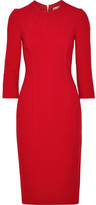 Michael Kors Stretch-wool Crepe Midi Dress - Red
