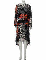 Thumbnail for your product : Preen by Thornton Bregazzi Floral Print Long Dress Black