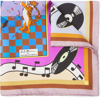 Maximilian Mogg Printed Silk-Twill Pocket Square