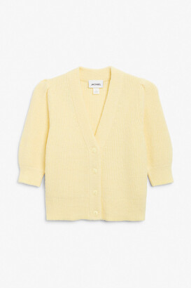 Monki Puff sleeve cardigan