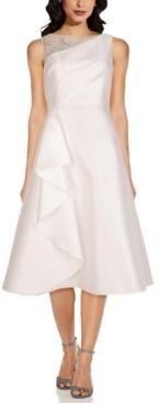 Adrianna Papell Mikado A-Line Dress