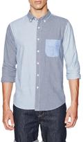 Velour Cotton Gingham Stripe Dean Shirt