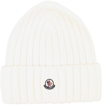 Moncler Logo Ribbed Knit Beanie