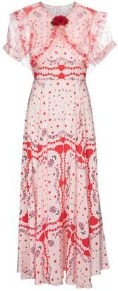 Rodarte Printed silk crepe de chine dress