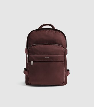 Reiss HARRISON SMALL NYLON BACKPACK Bordeaux