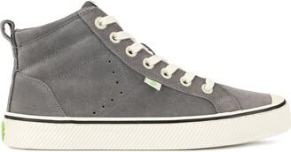 Cariuma OCA High Stripe Charcoal Grey Suede Sneaker