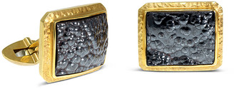 Jorge Adeler Men's 18K Yellow Gold Hematite Cufflinks
