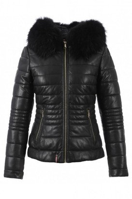 Oakwood Black Jelly Leather Jacket - 10