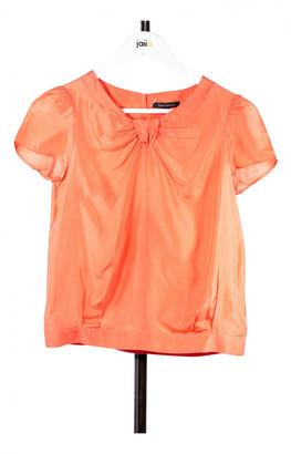 Tara Jarmon Orange Silk Tops