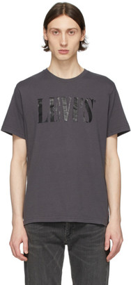 Levi's Levis Grey 90s Serif Logo T-Shirt