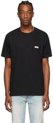 Nudie Jeans Black Daniel Logo T-Shirt