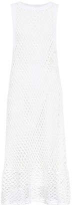 The Row Atis netted cotton-blend midi dress