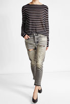 Golden Goose Deluxe Brand High-Waisted Distressed Denim