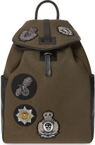 Alexander McQueen Badge detail backpack
