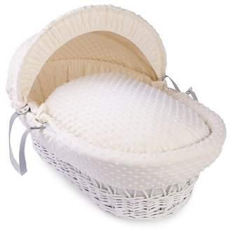 Clair De Lune Dimple White Wicker Moses Basket