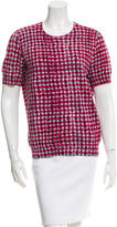 Tory Burch Patterned Short Sleeve Top