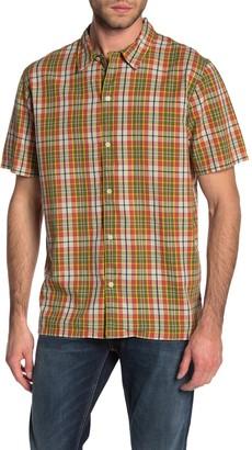 Nudie Jeans Brandon Madras Plaid Short Sleeve Shirt