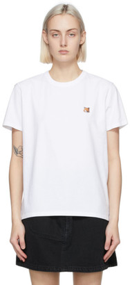 MAISON KITSUNÉ White Fox Head T-Shirt