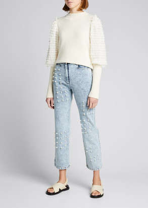 Sea Novia Wool Sweater with Tiered Sleeves