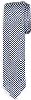 Thom Browne Classic University Striped Silk Tie, Navy
