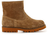 Pom D'Api Roadster Fur Lined Zip Suede Boots