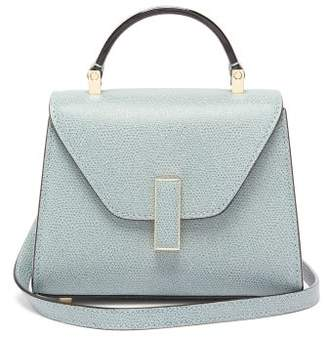 Valextra Iside Micro Leather Bag - Womens - Light Blue