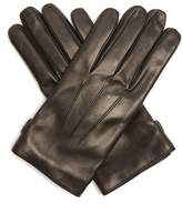 Lanvin Topstitched soft-leather gloves