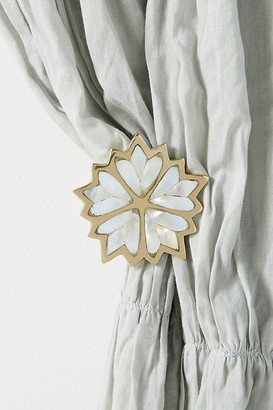 Anthropologie Camella Mother-Of-Pearl Tieback By in Gold