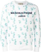 MAISON KITSUNÉ geometric print sweatshirt