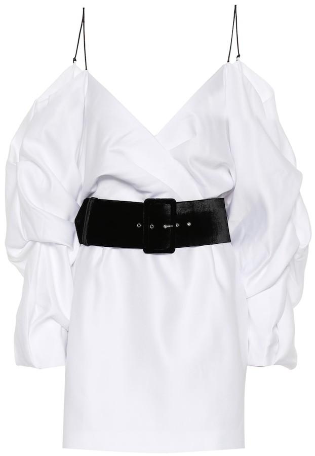 Rasario Cold-shoulder satin minidress