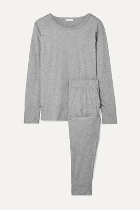 Skin Organic Pima Cotton-jersey Pajama Set - Gray