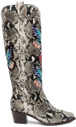 Sophia Webster Faw python ankle boots
