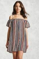 Forever 21 Self-Tie Open-Shoulder Dress