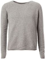 The Elder Statesman raw round neckline sweater - men - Cashmere - L